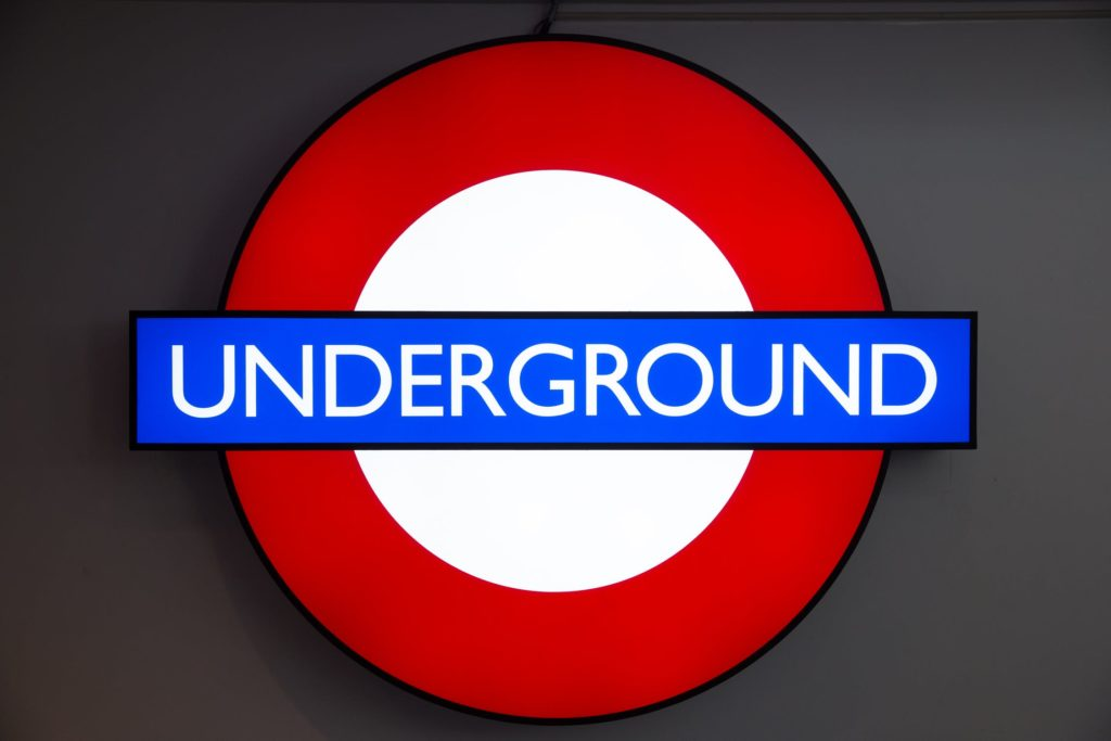 business signs london underground
