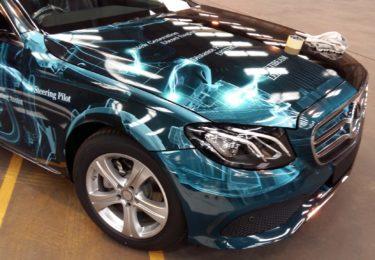 lightning car wrap