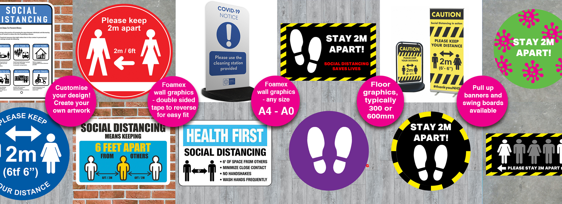COVID-19 Social Distancing Graphics